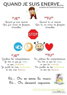 French Teaching Resources, Teaching French, Anger Management, Classroom Management, Learn French, Positive Attitude, Problem Solving, Kids And Parenting, Affirmations