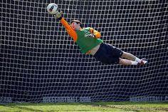 Messi de Arquero en un entrenamiento del Barcelona