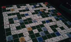 Scrabble betűk papírból