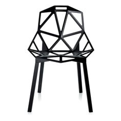 Chair One ($469) ❤ liked on Polyvore featuring home, furniture, chairs, fillers and geometric chair