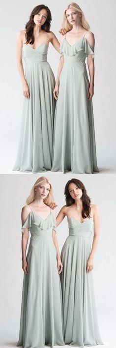 Sweetheart/ Spaghetti Straps Bridesmaid Dress, Chiffon Bridesmaid