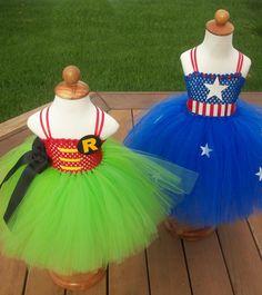 Robin Costume Tutu Dress by JustaLittleSassShop on Etsy