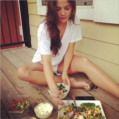 Phoebe Tonkin and Danielle Campbell Keep Healthy while Shooting The Originals