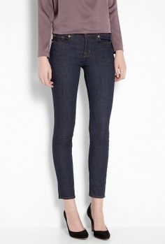 Blue Pure 811 Mid Rise Ankle Skinny by J Brand Denim