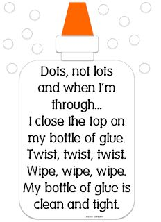 From Classroom Freebies Too: Great reminder for taking care of glue!  (Free.)