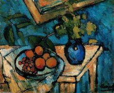 Ainda Life2, óleo por Maurice De Vlaminck (1876-1958, France)