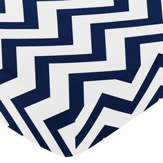 product image for Sweet Jojo Designs Chevron Fitted Crib Sheet in Navy Blue and White