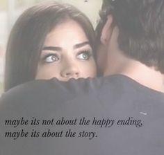 aria montgomery, ezra fitz, ezria, happy ending, hug, love, pretty little liars, quotes, sad