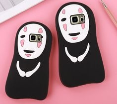 3D Samsung Galaxy S7 Edge Cases Cute Cartoon Japan No Face Man Soft Silicone Cases For Samsung Galaxy S6 S7 S7edge Note 5 Phone Case For iphone 6 6S 7 boy's Cover