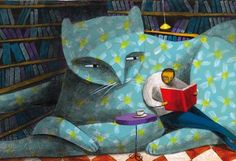 the sofa cat by Carlos C lainez by Thesmokingcat on Etsy, €25.00