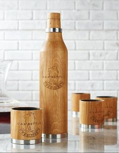 Savor the taste of a years-old oak-aged flavor in a matter of minutes and customize your favorite wine, spirits, beer or cocktails in these handsome wood tumblers. Made of American oak with a medium toast char interior to impart a rich vanilla oak flavor. Simply pour in your beverage, let it sit for a half-hour, gently swirl to release the aroma and serve.