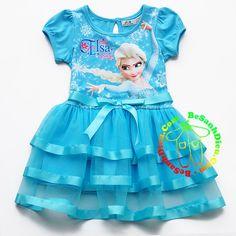 Đầm thun phối voan in Elsa - Nữ hoàng Băng Giá từ 11kg đến 32kg màu xanh biển Quần áo bé gái Đầm thun Elsa - Nữ hoàng Băng Giá, hàng VN may lên. Chất vải thun cotton 4 chiều, mềm mại, mịn, mát. Tùng áo phối vải voan 3 tầng, mềm nhẹ, rất xinh.