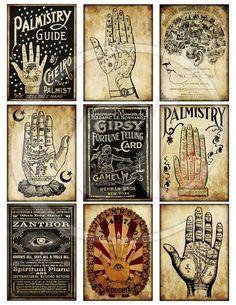 Halloween: Fortune Teller Palmistry Chart