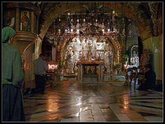 Church of the Holy Sepulchre, Jerusalem, Israel - site of the Crucifixion of Jesus Christ