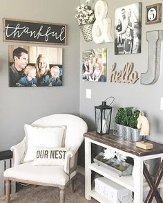 "happy monday, friends || LOVING this cozy corner in my IRL friend vanessa's /urban/.farm.girl home!! snag your own thankful sign TONIGHT (05.09) at 8pm CST, i'll be listing a *limited THANKFUL PRE-ORDER* for both my thankful sign (approx 10.5x31.5"") and my mini thankful sign (approx 8x24"")!!! see you then! xoxo ..."