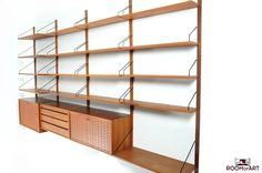 Poul Cadovius Teak Royal Wall System: Room of Art