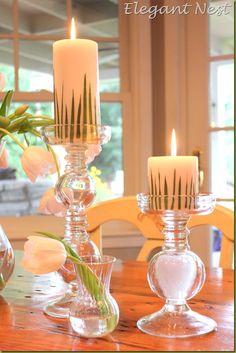 Grass Candles via The Elegant Nest