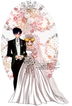 Wedding Day - Usagi and Mamoru by selinmarsou