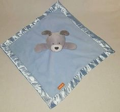 Carter's JUST ONE YOU Blue Gray Puppy Dog HUG ME Lovey Baby Security Blanket