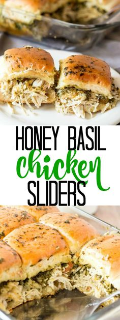 A light and fresh and super tasty weeknight meal, these Honey Basil Chicken Sliders are a family favorite for everyone! Chicken Sliders, Basil Chicken, Weeknight Meals, Honey, Tasty, Fresh, Recipes, Food, Eten