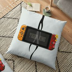 'Nintendo Switch Tiger King Edition' Floor Pillow by SinandTonic Buy Nintendo Switch, Pillow Design, Floor Pillows, King, Flooring, Printed, Awesome, Interior, Products