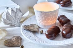 Pillar Candles, Tiramisu, Tableware, Dinnerware, Tablewares, Tiramisu Cake, Dishes, Place Settings, Candles