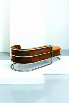 Lot : GIUSEPPE DE VIVO - Chaise longue, De Vivo 1935. Metallo cromato, velluto imbottito,[...] | Dans la vente Design - 2nd Part à Wannenes Art Auctions                                                                                                                                                                                 Plus