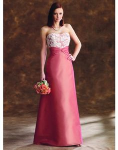 Elegant A-line Sweetheart Lace Sleeveless Floor-length Satin Dresses