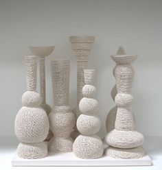 Tony Marsh Still Life (Perforated Vessel Series), 2007 ceramic 24 x 26.25 x 17 in