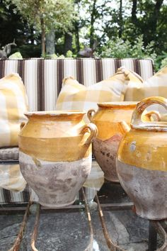 French Antique Confit Pot Handmade Glazed Pottery Bowl ...