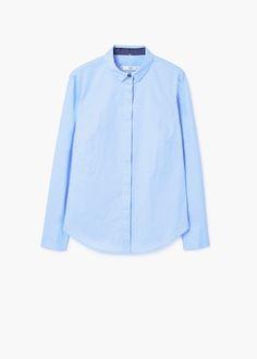 Katoenen blouse met print | MANGO