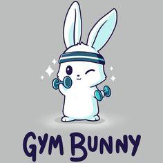 Look like a bunny, train like a beast. ✨ Get the gray Gym Bunny t-shirt only at TeeTurtle! Cute Bunny Cartoon, Kawaii Bunny, Cute Cartoon Drawings, Cute Kawaii Drawings, Cute Animal Drawings, Funny Bunnies, Bunny Drawing, Bunny Art, Cute Animal Quotes