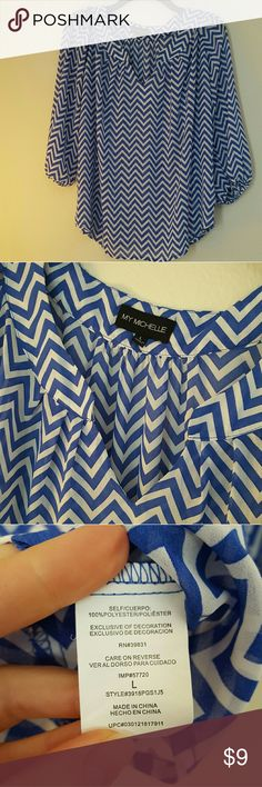 My Michelle blouse Blue and white Chevron blouse. My Michelle Tops Blouses