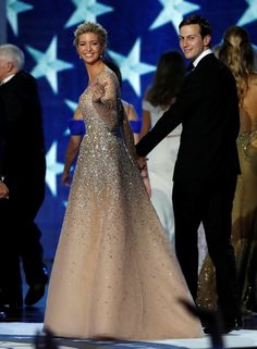 Ivanka Trump and her husband Jared Kushner look back as they leave the Inauguration Freedom Ball in Washington, U.S., January 20, 2017. REUTERS/Lucy Nicholson  via @AOL_Lifestyle Read more: https://www.aol.com/article/lifestyle/2017/01/20/melania-trump-wows-in-white-2017-inaugural-ball/21659651/?a_dgi=aolshare_pinterest#fullscreen