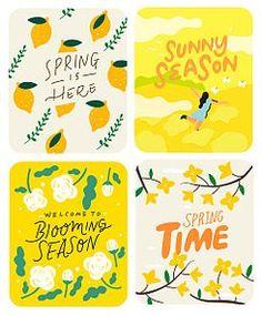 Graphic Design Posters, Graphic Design Illustration, Printable Stickers, Cute Stickers, Korean Stickers, New Sticker, Class Decoration, Ipad Art, Little Designs