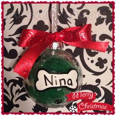 Personalized Christmas ornament for dogs!  Furever Fabulous - like us on facebook!  Follow us on Instagram @fureverfabulous