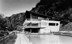 Thermal baths Zelená žaba, Bohuslav Fuchs, Trenčianske Teplice, Czechoslovakia, 1936