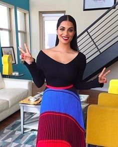 Lilly Singh looking gorgeous in the Giulia top and Audrey skirt #daytoplay