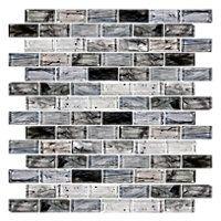 Blue Twilight Brick Glass Mosaic Tile - 1 x 2 in. $17.99 Sq Ft      Coverage 9.89 Sq Ft per  Box