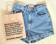 american apparel high waisted shorts ♡