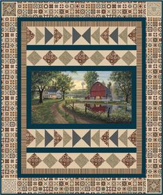 Homestead Quilt Pattern UCQ-P62 (advanced beginner, lap, throw)