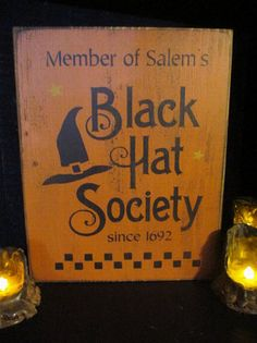 Black Hat Society by DaisyPatchPrimitives on Etsy 59254ff2e809