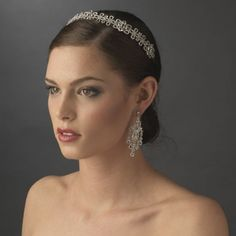 Antique Silver Plated Bridal Headband - Wedding Inspirations
