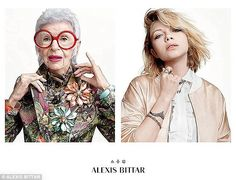 Rising star: Just last month Ms Apfel was unveiled as the face of jeweler Alexis Bittar's Spring 2015 collection, alongside blogger Tavi Gevinson