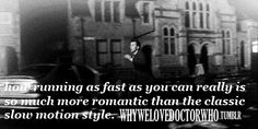 Running as fast as you can really is so much more romantic that the classic slow motion style