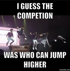 The Question was can you all do a Niall jump? :)