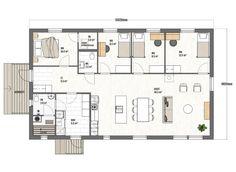 Kuusama 135 - Muurametalot Floor Plans, Diagram