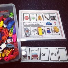 Speech parking lots for early-developing speech sounds.  My students love them and I love that I can give them each a different board and each child in a group can work on a different sound!