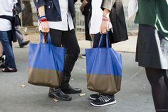 Céline, Celine, streetstyle after the Céline ss2015 show Paris fashionweek, bags, shoes,