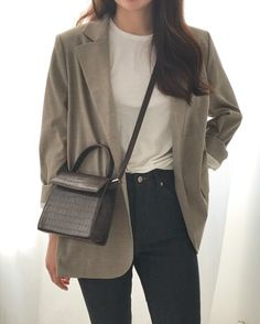 From J : 네이버 블로그 Source by changs_murmur work office di 2020 Korean Fashion Trends, Asian Fashion, Look Fashion, Girl Fashion, Fashion Dresses, Kawaii Fashion, Fashion Styles, Korea Fashion, Modest Fashion